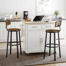 Tall Bar Chairs with Backrest