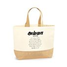 MEANING OF AMMA MOTHER'S DAY JUTE BASE ( சணல் ) CANVAS - TAMIL TOTE BAG - Large(38 x 44 x 18cm)