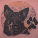 Dog Memorial Tattoos