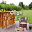 FABRIQUER UN BAR EN PALETTES - DIY