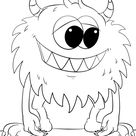 Cute Cartoon Monster coloring page | Free Printable Coloring Pages