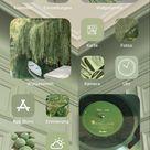 iOS 14 sage green homescreen