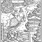 Free & Easy To Print Adult Christmas Coloring Pages