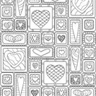 Hearts 33 Advanced Coloring Pages