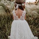 White Flower girl dress, long sleeve flower girl, baptism dress, rustic flower girl, First Communion dress, flower girl dress