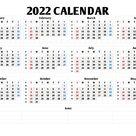 2022 Calendar with Week Numbers (Landscape, PDF, Image)