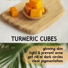 TURMERIC CUBES FOR CLEAR, GLOWING AND HEALTHY SKIN - The Little Shine