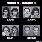 Schnitzel.. vorher / nachher
