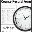 High School Course Record Form - Walking by the Way