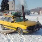 A Group Of Friends In Estonia Have Turned A 1984 Audi 100 Into A Cosy Wood Fired Sauna