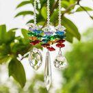 3pcs/set 7 Chakra Prism Crystal Suncatcher