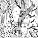 Forest rachel - Jungle & Forest Coloring Pages for Adults - Just Color