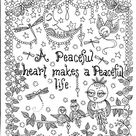 INSTANT DOWNLOAD A Peaceful Heart Birds Art for you to Color   Etsy