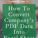 [FREE] Learn How To Convert Excel To PDF Or Vice Versa