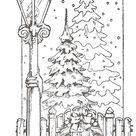 Christmas Scenes Coloring Pages - Free Coloring Pages