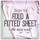How to fold a fitted sheet (the easy way!) - is this how you do it?