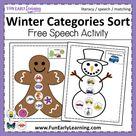 Winter Categories Sorting Free Printable Preschool and Kindergarten