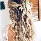 wedding bridesmaid hair half up