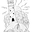 Printable Lighthouse Coloring Page