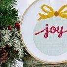 Christmas Ornament. PDF Cross Stitch. Home Decor. Joy. Sewing. Tree Ornament. Digital Download. Christmas Gift Decorations Stocking Stuffer
