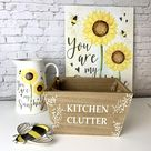 Kitchen Clutter - Wooden Crate with Jute Handles