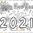 New Years 2021 coloring page for kids - Free Kids Coloring Pages Printable