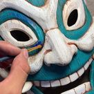Painting the Blue spirit mask from Avatar