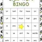 Beginning Sight Word Bingo Games (Fry's)