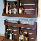 DIY Pallet Wood Liquor Cabinet   Home Construction Improvement