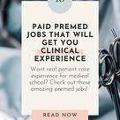 10 Premed Jobs That Will Get You Valuable Clinical Experience