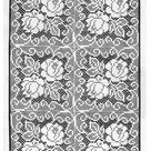 Rose Filet Crochet Squares Pattern, 8 or 12