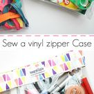 How to sew a clear vinyl bag