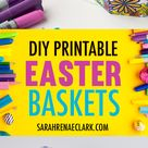 DIY Easter Egg Basket Templates | Set of 8 - Sarah Renae Clark - Coloring Book Artist and Designer