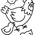 poule-1.JPG - Dessins à colorier pour enfants