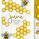 Best Bullet Journal Cover Page Setup For School June 2020 - Sweet Honeycombs