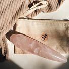 rose quartz pleasure wand - large THICK