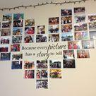 Fotowand Herz selber machen   So dekorieren Sie Ihr Zimmer mit Fotos