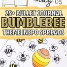 25+ Bee Themed Bullet Journal Spreads For 2020 - Crazy Laura