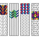 Geometric Bookmarks 2  PDF Coloring Page   Etsy