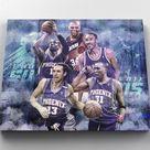 Canvas Print Phoenix Suns NBA Basketball Player legend Charles Barkley Steve Nash Amar'e Stoudemire Walter Davis Shawn Marion Wall Decor