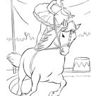 Circus Animal Coloring Pages | Printable performing Circus Horse and lady coloring page and kids activity sheet