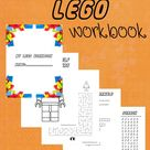 Printable LEGO Workbook Kids Coloring and Activity Sheets