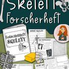 Forscherheft Skelett - Texte, Experimente, Bastelanleitungen & Forschen