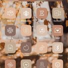 Read the full title 350 IOS 14 app icons | Autumn Fall November Orange Red Aesthetic Theme |Cove The Design App Icon Pack