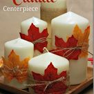 Easiest Fall Candle Centerpiece Ever!