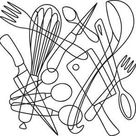 Utensil Collage | Urban Threads: Unique and Awesome Embroidery Designs