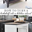 Bookshelf Kitchen Island