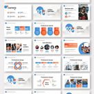 Blue and Red Business Plan PowerPoint Template – Original and High Quality PowerPoint Templates