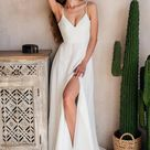 Lilian   Boho Wedding Dress   A Line Wedding Dress   Love Spell