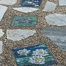 Custom Kitchen Mosaic Backsplash Inset Dragonfly-Iris - Custom Designed - 24